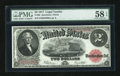 Large Size:Legal Tender Notes, Fr. 60 $2 1917 Legal Tender PMG Choice About Unc 58 EPQ....