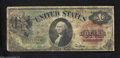 Fr. 18 $1 1869 Legal Tender Note Very Good+. Stars at the end of notes before 1910 did not identify a replacement note...
