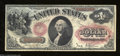 Fr. 27 $1 1878 Legal Tender Note Very Fine+. The blue anti-counterfeiting stain runs laterally along the top of the note...