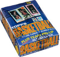1980 Topps Basketball Wax Box with 36 Unopened Packs - Magic/Bird Rookie Issue!