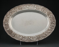 An S. Kirk & Son Co. Repoussé Pattern Silver Tray, Baltimore, Maryland, 1896-1925