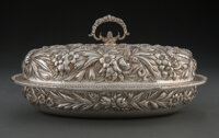 A S. Kirk & Son Co. Silver Repoussé Covered Dish, Baltimore, Maryland, 1896-1924 Marks: S. KIRK & SON Co...