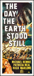 """Movie Posters:Science Fiction, The Day the Earth Stood Still (20th Century Fox, R-1972). Folded, Very Fine. Australian Daybill (13"""" X 30""""). Science Fiction..."""