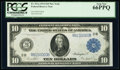 Fr. 911a $10 1914 Federal Reserve Note PCGS Gem New 66PPQ