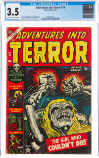 Adventures Into Terror #19 (Atlas, 1953) CGC VG- 3.5 Off-white to white pages