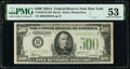 Fr. 2202-B $500 1934A Federal Reserve Note. PMG About Uncirculated 53
