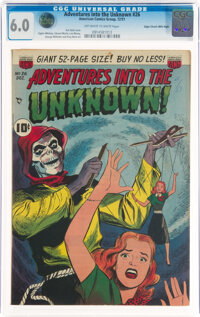 Adventures Into the Unknown #26 Mile High Pedigree (ACG, 1951) CGC FN 6.0 Off-white to white pages