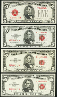 Fr. 1528 $5 1928C Legal Tender Note. Extremely Fine; Fr. 1532 $5 1953 Legal Tender Note. Choice About Uncirculated;...