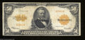 Large Size:Gold Certificates, Fr. 1200a $50 1922 Gold Certificate Fine. This variety ...