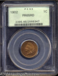 Proof Indian Cents: , 1902 1C PR65 Red PCGS. Fully struck with beautiful, deep ...