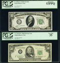 Fr. 2002-G $10 1928B Federal Reserve Note. PCGS About New 53PPQ; Fr. 2109-B* $50 1950B Federal Reserve Star Note. PCGS V...