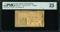 New Jersey March 25, 1776 1s PMG Very Fine 25