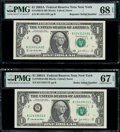 Radar Serial Number 11433411 and Repeater Serial Number 11431143 Fr. 1930-B $1 2003A Federal Reserve Notes. PMG Superb G...