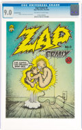 Bronze Age (1970-1979):Alternative/Underground, Zap Comix #0 Second Printing (Apex Novelties, 1968) CGC VF/NM 9.0 Off-white to white pages.