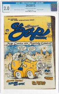 Zap Comix #1 First Plymell Printing (Apex Novelties, 1967) CGC GD 2.0 Cream to off-white pages