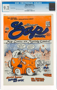 Zap Comix #1 Second Printing - File Copy (Apex Novelties, 1968) CGC NM- 9.2 Cream to off-white pages