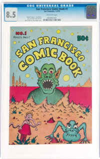 San Francisco Comic Book #1 (Print Mint, 1970) CGC VF+ 8.5 Off-white pages