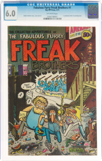 The Fabulous Furry Freak Brothers #1 (Rip Off Press, 1971) CGC FN 6.0 Off-white pages