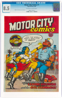 Motor City Comics #1 (Rip Off Press, 1969) CGC VF+ 8.5 Off-white to white pages