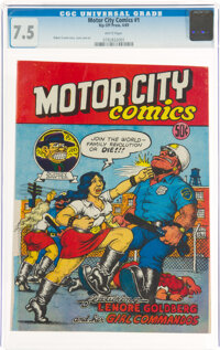 Motor City Comics #1 (Rip Off Press, 1969) CGC VF- 7.5 White pages