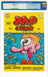 Zap Comix #2 (2nd Printing) File Copy (Apex Novelties, 1968) CGC NM/MT 9.8 Off-white pages
