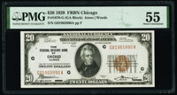 Fr. 1870-G $20 1929 Federal Reserve Bank Note. PMG About Uncirculated 55