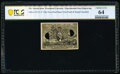 Milton 2E25F.3f 25¢ Second Issue Experimental PCGS Banknote Choice Unc 64