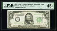 Fr. 2105-B* $50 1934C Federal Reserve Star Note. PMG Choice Extremely Fine 45 EPQ