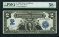 Large Size:Silver Certificates, Fr. 257 $2 1899 Silver Certificate PMG Choice About Unc 58 EPQ.. ...