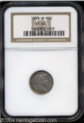 Barber Dimes: , 1895-O 10C XF40 NGC. Almost fully detailed with only ...