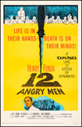 """12 Angry Men (United Artists, 1957). Very Fine+ on Linen. One Sheet (27"""" X 41""""). Drama"""