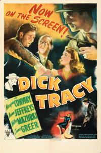 """Dick Tracy & Other Lot (RKO, 1945). Folded & Flat, Overall: Fine/Very Fine. One Sheets (6) (27"""" X 41"""")..."""