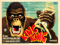 """King Kong (RKO, 1933). Very Fine+ on Linen. French Four Panel (43"""" X 123.5"""") C. Finel Artwork"""