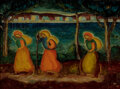 Paintings, James Lesesne Wells (American, 1902-1993). Wanderers, circa 1930. Oil on canvas. 18-1/4 x 24-1/2 inc...