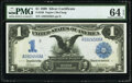 Large Size:Silver Certificates, Fr. 230 $1 1899 Silver Certificate PMG Choice Uncirculated 64 EPQ.. ...