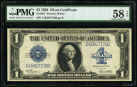 Fr. 238 $1 1923 Silver Certificate PMG Choice About Unc 58 EPQ