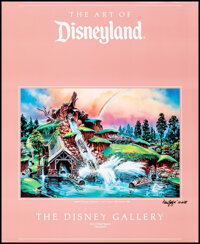 """The Art of Disneyland & Other Lot (The Disney Gallery, 1988). Rolled, Very Fine+. Signed Poster (26"""" X 32""""..."""