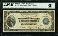 Fr. 714 $1 1918 Federal Reserve Bank Note PMG Very Fine 30