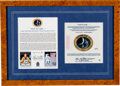 """Explorers:Space Exploration, Apollo 14 Flown Limited Edition, #2/50 """"Earth Our Cradle....."""