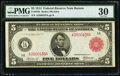 Fr. 832b $5 1914 Red Seal Federal Reserve Note PMG Very Fine 30