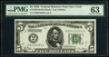 Fr. 1950-B $5 1928 Federal Reserve Note. PMG Choice Uncirculated 63