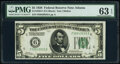 Fr. 1950-F $5 1928 Federal Reserve Note. PMG Choice Uncirculated 63 EPQ