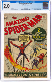 The Amazing Spider-Man #1 (Marvel, 1963) CGC GD 2.0 Off-white to white pages