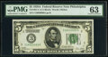 Fr. 1951-C $5 1928A Federal Reserve Note. PMG Choice Uncirculated 63