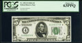 Fr. 1951-D $5 1928A Federal Reserve Note. PCGS Choice New 63PPQ