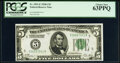 Fr. 1951-E $5 1928A Federal Reserve Note. PCGS Choice New 63PPQ