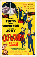 """Movie Posters:Science Fiction, Cat-Women of the Moon (Astor Pictures, 1954). Very Fine- on Linen. One Sheet (27"""" X 41.25""""). Science Fiction.. ..."""