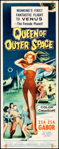"""Movie Posters:Science Fiction, Queen of Outer Space (Allied Artists, 1958). Rolled, Fine/Very Fine. Insert (14"""" X 36""""). Science Fiction.. ..."""