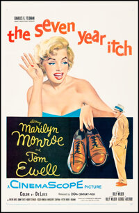 """The Seven Year Itch (20th Century Fox, 1955). Very Fine+ on Linen. One Sheet (27"""" X 41""""). Comedy"""