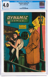 Dynamic Comics #15 (Chesler, 1945) CGC VG 4.0 Off-white to white pages
